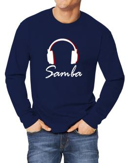 Samba - Headphones Long-sleeve T-Shirt