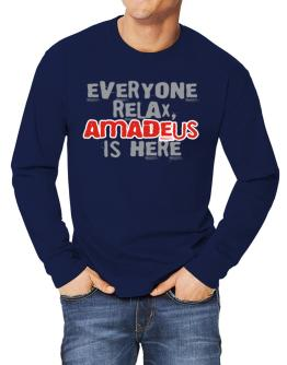""""""" Everyone relax, Amadeus is here """" Long-sleeve T-Shirt"""