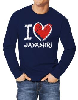 I love Jayashri chalk style Long-sleeve T-Shirt