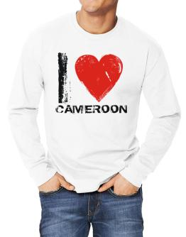 I Love Cameroon - Vintage Long-sleeve T-Shirt