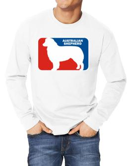 Australian Shepherd Sports Logo Long-sleeve T-Shirt