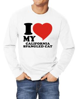 I Love My California Spangled Cat Long-sleeve T-Shirt