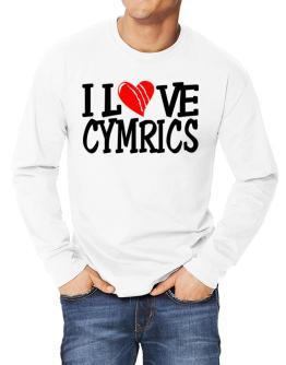 I Love Cymrics - Scratched Heart Long-sleeve T-Shirt
