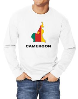Cameroon - Country Map Color Long-sleeve T-Shirt
