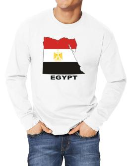 Egypt - Country Map Color Long-sleeve T-Shirt