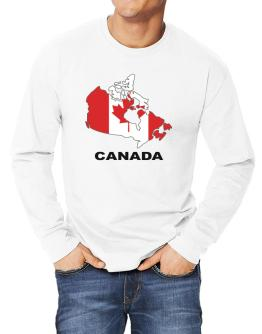 Canada - Country Map Color Long-sleeve T-Shirt
