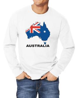 Australia - Country Map Color Long-sleeve T-Shirt