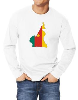Cameroon - Country Map Color Simple Long-sleeve T-Shirt