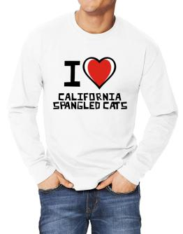 I Love California Spangled Cats Long-sleeve T-Shirt