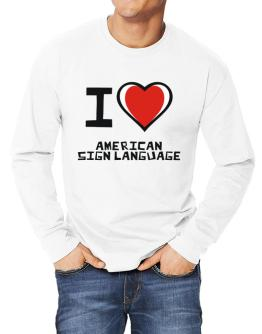 I Love American Sign Language Long-sleeve T-Shirt