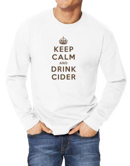 Keep Calm and drink Cider Long-sleeve T-Shirt
