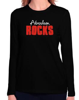 Absolom Rocks Long Sleeve T-Shirt-Womens