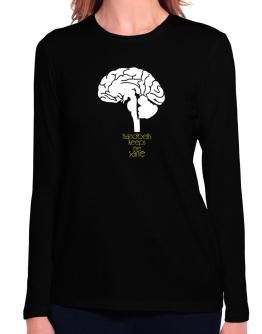 Handbells Keeps Me Sane Long Sleeve T-Shirt-Womens