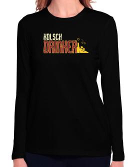 Kolsch Drinker Long Sleeve T-Shirt-Womens