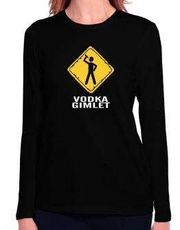 Vodka Gimlet Long Sleeve T-Shirt-Womens