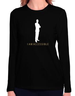 I Am Accessible - Male Long Sleeve T-Shirt-Womens
