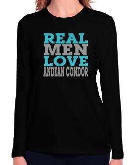Real Men Love Andean Condor Long Sleeve T-Shirt-Womens