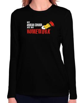 My Andean Condor Ate My Homework Long Sleeve T-Shirt-Womens