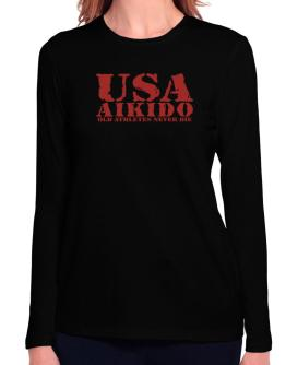 Old Athletes Aikido Long Sleeve T-Shirt-Womens