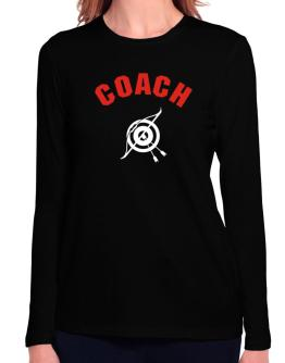 Archery Coach Long Sleeve T-Shirt-Womens