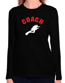 Scuba Diving Coach Long Sleeve T-Shirt-Womens
