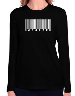 Abarne - Barcode Long Sleeve T-Shirt-Womens