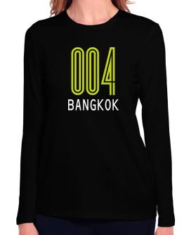 Iso Code Bangkok - Retro Long Sleeve T-Shirt-Womens