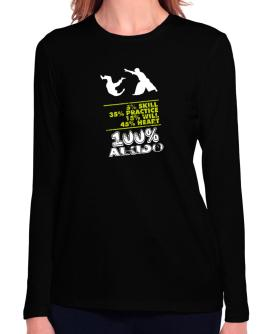 100% Aikido Long Sleeve T-Shirt-Womens