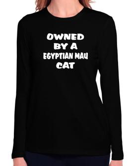 Owned By S Egyptian Mau Long Sleeve T-Shirt-Womens