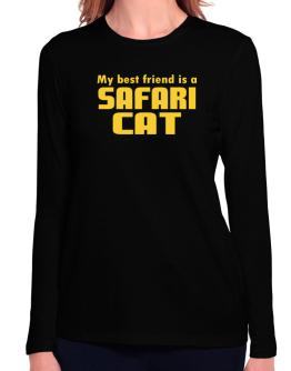 My Best Friend Is A Safari Long Sleeve T-Shirt-Womens