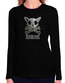 The Greatnes Of A Nation - California Spangled Cats Long Sleeve T-Shirt-Womens