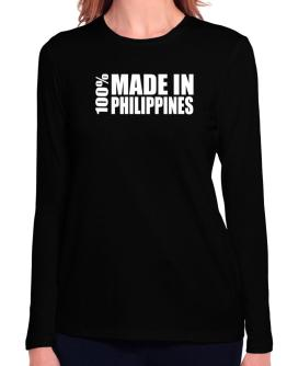 100% Made In Philippines Long Sleeve T-Shirt-Womens