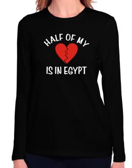 Half Of My Heart Is In Egypt Long Sleeve T-Shirt-Womens