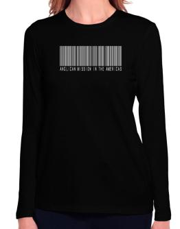 Anglican Mission In The Americas - Barcode Long Sleeve T-Shirt-Womens