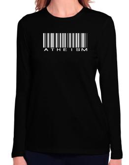 Atheism - Barcode Long Sleeve T-Shirt-Womens