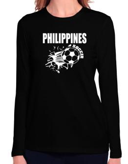 All Soccer Philippines Long Sleeve T-Shirt-Womens