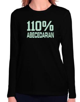 110% Abecedarian Long Sleeve T-Shirt-Womens