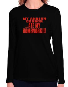 My Andean Condor ... Ate My Homework Long Sleeve T-Shirt-Womens