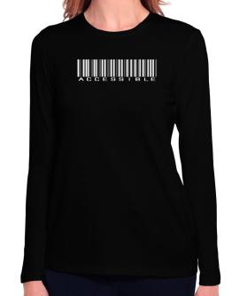 Accessible Barcode Long Sleeve T-Shirt-Womens