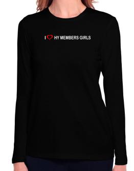 I love Hy Members Girls Long Sleeve T-Shirt-Womens