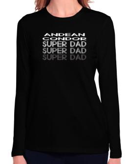 Andean Condor super dad Long Sleeve T-Shirt-Womens