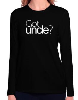 Got Auncle? Long Sleeve T-Shirt-Womens