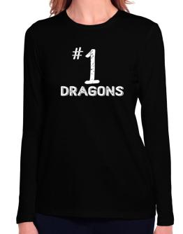 Number 1 Dragons Long Sleeve T-Shirt-Womens