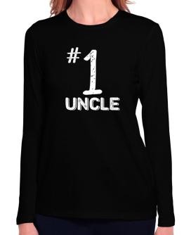 Number 1 Auncle Long Sleeve T-Shirt-Womens