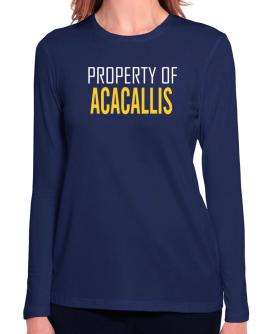 Property Of Acacallis Long Sleeve T-Shirt-Womens