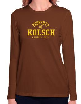 Property Of Kolsch - Drunken Department Long Sleeve T-Shirt-Womens