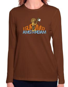 I Survived Amsterdam Long Sleeve T-Shirt-Womens