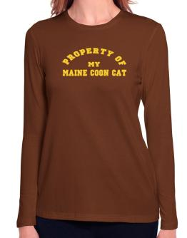 Property Of My Maine Coon Long Sleeve T-Shirt-Womens