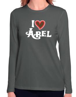 I Love Abel Long Sleeve T-Shirt-Womens