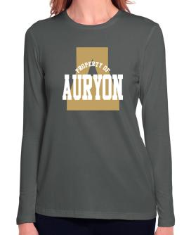 Property Of Auryon Long Sleeve T-Shirt-Womens